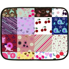 Quilt Of My Patterns Double Sided Fleece Blanket (mini)