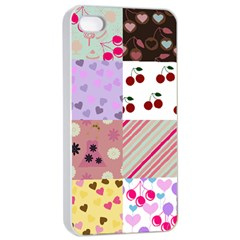 Quilt Of My Patterns Apple Iphone 4/4s Seamless Case (white)