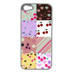 Quilt Of My Patterns Apple Iphone 5 Case (silver)
