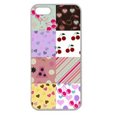 Quilt Of My Patterns Apple Seamless Iphone 5 Case (clear)