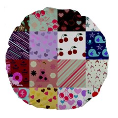 Quilt Of My Patterns Large 18  Premium Round Cushions