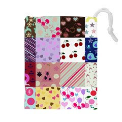Quilt Of My Patterns Drawstring Pouches (extra Large)
