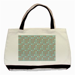 Peach Pink Eggs On Green Basic Tote Bag