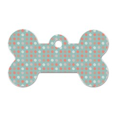 Peach Pink Eggs On Green Dog Tag Bone (two Sides)