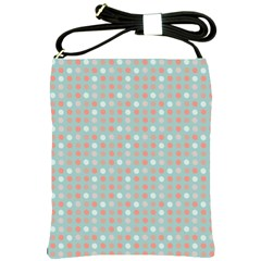 Peach Pink Eggs On Green Shoulder Sling Bags