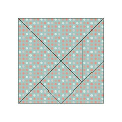 Peach Pink Eggs On Green Acrylic Tangram Puzzle (4  X 4 )