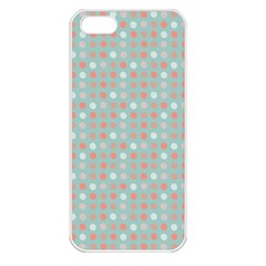Peach Pink Eggs On Green Apple Iphone 5 Seamless Case (white)