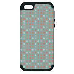 Peach Pink Eggs On Green Apple Iphone 5 Hardshell Case (pc+silicone)