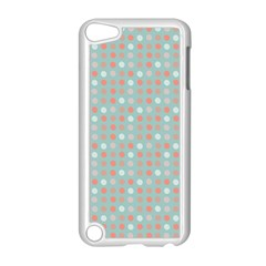 Peach Pink Eggs On Green Apple Ipod Touch 5 Case (white)