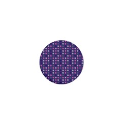 Violet Grey Purple Eggs On Grey Blue 1  Mini Buttons
