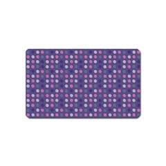 Violet Grey Purple Eggs On Grey Blue Magnet (name Card)