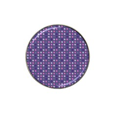 Violet Grey Purple Eggs On Grey Blue Hat Clip Ball Marker
