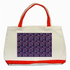 Violet Grey Purple Eggs On Grey Blue Classic Tote Bag (red)