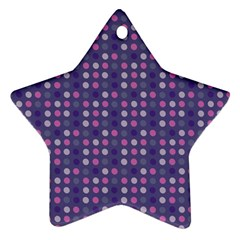 Violet Grey Purple Eggs On Grey Blue Star Ornament (two Sides)