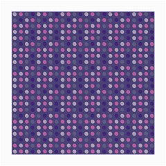 Violet Grey Purple Eggs On Grey Blue Medium Glasses Cloth (2 Side)