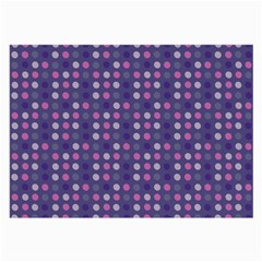 Violet Grey Purple Eggs On Grey Blue Large Glasses Cloth