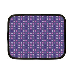 Violet Grey Purple Eggs On Grey Blue Netbook Case (small)