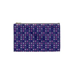 Violet Grey Purple Eggs On Grey Blue Cosmetic Bag (small)