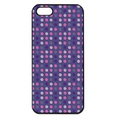 Violet Grey Purple Eggs On Grey Blue Apple Iphone 5 Seamless Case (black)