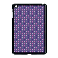 Violet Grey Purple Eggs On Grey Blue Apple Ipad Mini Case (black)