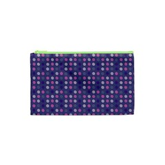 Violet Grey Purple Eggs On Grey Blue Cosmetic Bag (xs)