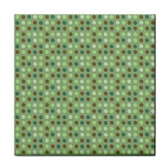 Green Brown  Eggs On Green Tile Coasters