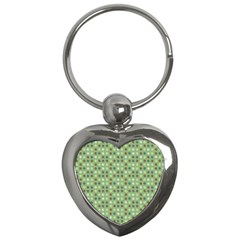 Green Brown  Eggs On Green Key Chains (heart)