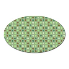 Green Brown  Eggs On Green Oval Magnet