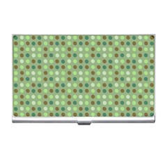 Green Brown  Eggs On Green Business Card Holders