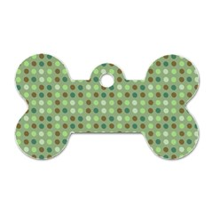 Green Brown  Eggs On Green Dog Tag Bone (one Side)