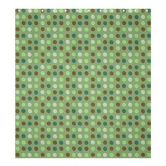 Green Brown  Eggs On Green Shower Curtain 66  X 72  (large)