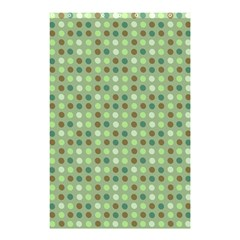 Green Brown  Eggs On Green Shower Curtain 48  X 72  (small)