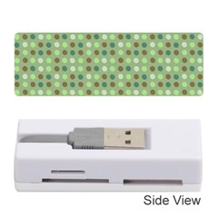 Green Brown  Eggs On Green Memory Card Reader (stick)