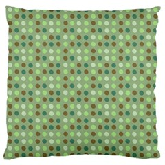 Green Brown  Eggs On Green Large Cushion Case (two Sides)