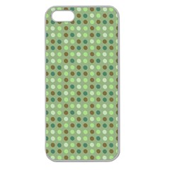 Green Brown  Eggs On Green Apple Seamless Iphone 5 Case (clear)