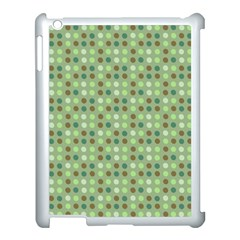 Green Brown  Eggs On Green Apple Ipad 3/4 Case (white)