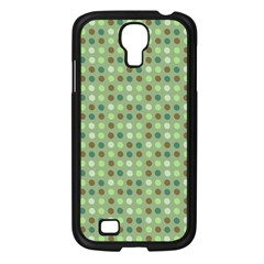 Green Brown  Eggs On Green Samsung Galaxy S4 I9500/ I9505 Case (black)