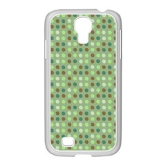 Green Brown  Eggs On Green Samsung Galaxy S4 I9500/ I9505 Case (white)