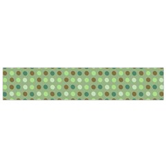 Green Brown  Eggs On Green Small Flano Scarf