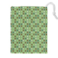 Green Brown  Eggs On Green Drawstring Pouches (xxl)