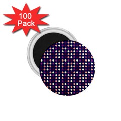 Peach Purple Eggs On Navy Blue 1 75  Magnets (100 Pack)