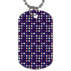 Peach Purple Eggs On Navy Blue Dog Tag (two Sides)