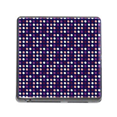 Peach Purple Eggs On Navy Blue Memory Card Reader (square)