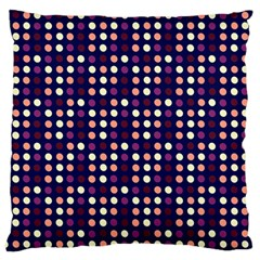 Peach Purple Eggs On Navy Blue Large Cushion Case (two Sides)
