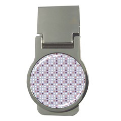 Pink Purple White Eggs On Lilac Money Clips (round)