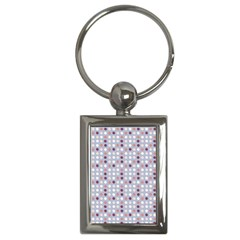 Pink Purple White Eggs On Lilac Key Chains (rectangle)