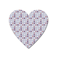 Pink Purple White Eggs On Lilac Heart Magnet