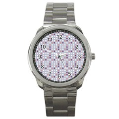 Pink Purple White Eggs On Lilac Sport Metal Watch