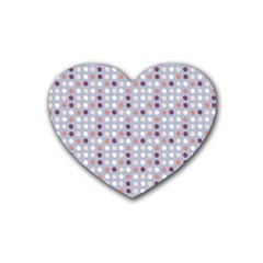 Pink Purple White Eggs On Lilac Heart Coaster (4 Pack)