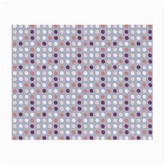Pink Purple White Eggs On Lilac Small Glasses Cloth (2 Side)